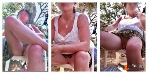 No panties 555666zzz: Outdoor Upskirt Trio. x pantiesless Public Flashing