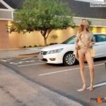 No panties xoxox-shhh: it looks empty, but there were cars everywhere and… pantiesless