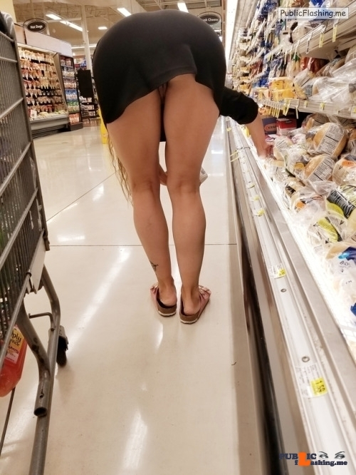 No panties frenchie-milf: If you're gonna shop might as well make it fun! pantiesless