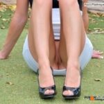 No panties hottysjourney: Mini golf.. with my new shoes.. i should wear my… pantiesless