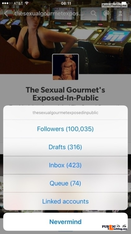 Exposed in public Went over the top last night…100K Thanks & enjoy…