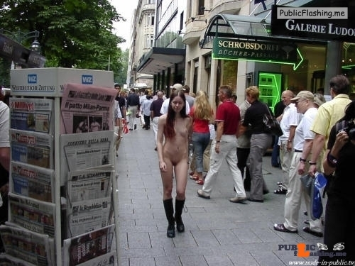 Public nudity photo nude-girls-in-public:Nude-in-public.tv:  Martina Follow me for…