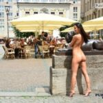 Public nudity photo exposed-on-public:Kira in Leipzig (album in comments)…