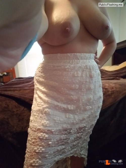 No panties stay-at-home-hoe: Skirt and butt wiggles And no panties pantiesless