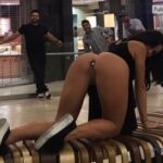 Public flashing photo nudeandnaughtyflashing: Katrina Jade putting on a nice little…