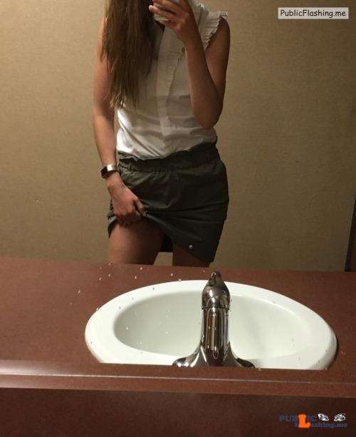 Public Flashing Photo Feed : No panties Wish you were my colleague ? pantiesless