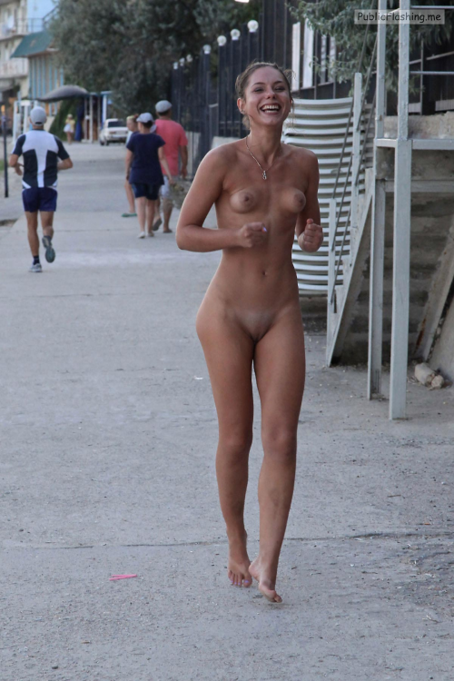 Public nudity photo nudeexercise: Running Naked Follow me for more public…
