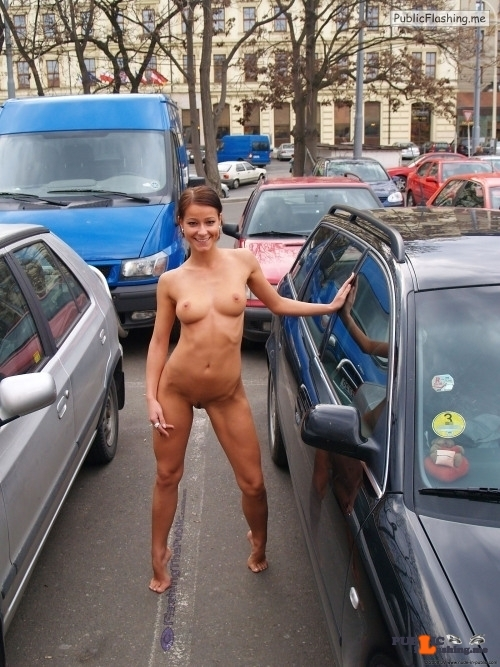 Public flashing photo flashingthepublic: She lost a bet so she had to expose her…