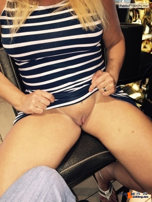 No panties atxhotbox: Previously posted: Showing BF and Hubby the ?while… pantiesless