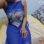 No panties aisha4all: Estrenando vestido azul…a lo mejor es demasiado… pantiesless