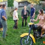 Public nudity photo euronudist:exposed biker | More nudism and public flashing here:…