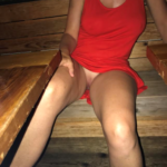 No panties joshlynexposed: Out for another dinner. pantiesless