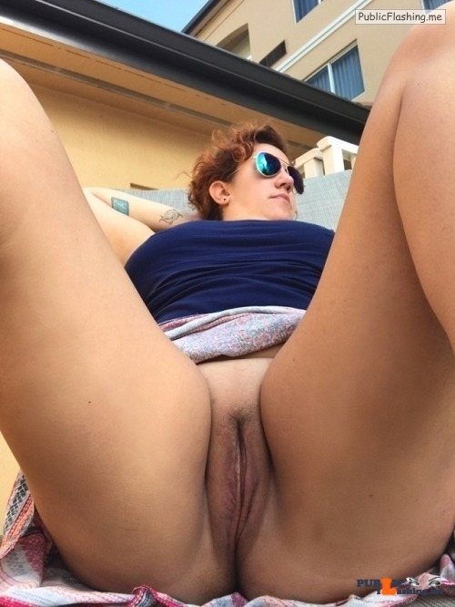 No panties xxxwannabexxx: Enjoying showing off my pussy at the public… pantiesless