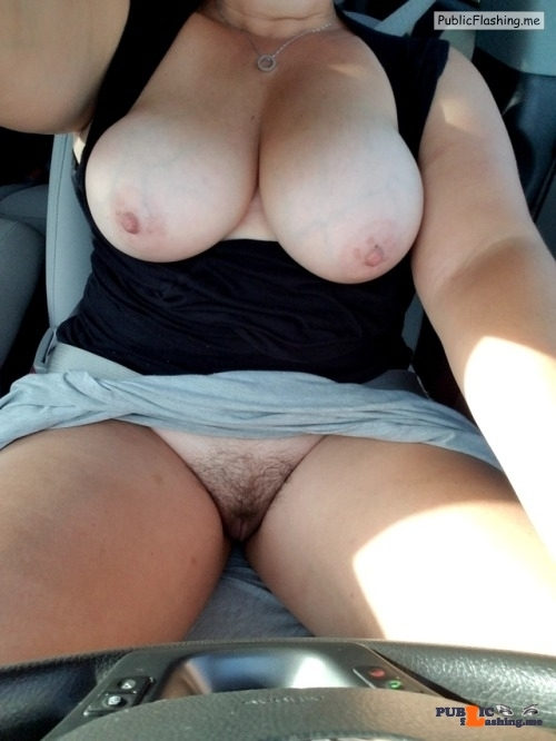 No panties voodoopussy1000: Oh the joys of flashing strangers on the road… pantiesless