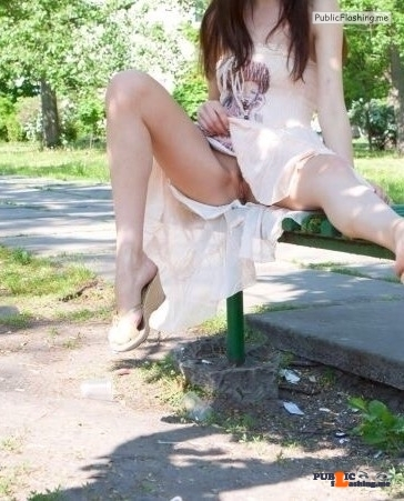 No panties hottysjourney: At the park.. pantiesless