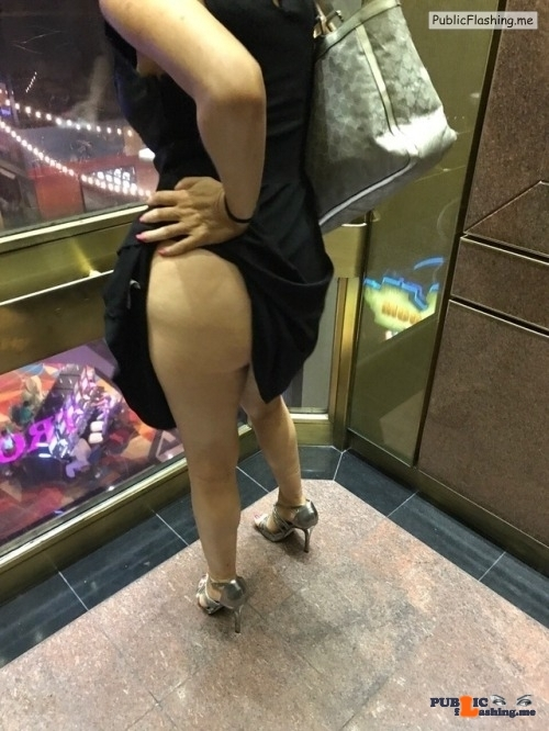 Exposed in public My Hotwife @hotwifeyshare showing off in the Elevator Thanks…