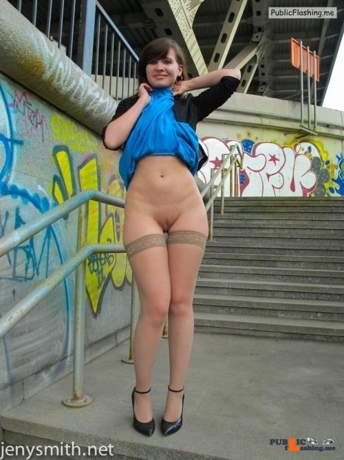 Public flashing photo sexyjenysmith:Front view )