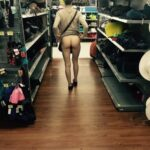 "Public flashing photo flashinginstores: Ahhhhh… The classic ""flashing her ass at…"