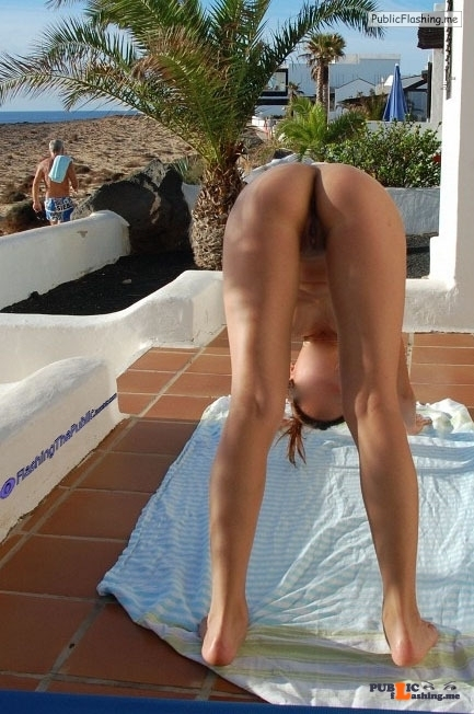 Public flashing photo flashingthepublic:Doing Nude Yoga in front of everybody
