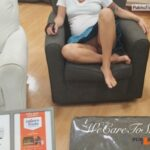 No panties wecaretoshare: She knows how to make furniture shopping better… pantiesless