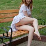 Public flashing photo hornymetaleux: Sur le banc / On the bench
