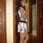 No panties yola-loca: have an apple ?!!! ? pantiesless