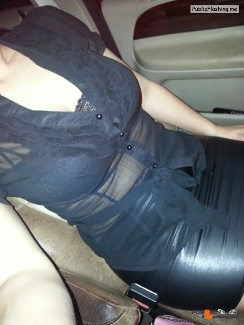 Public Flashing Photo Feed : No panties my-sexy-wife-and-her-daddy: Out with daddy No panties date… pantiesless