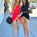 Public flashing photo orgasmic-sexy-flashing:Two bottomless babes
