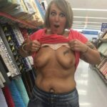 Public flashing photo idareyoucontest:Daytime Dare to Flash at Walmart