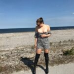 No panties letussharewithyou: Again a lovely roadtrip and i keep on… pantiesless