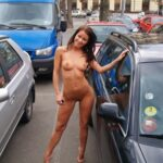 Public flashing photo nudeandnaughtyflashing: She just has no luck trying to find her…
