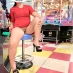 Public flashing photo emichanhotwife: I love game center! Let's play???