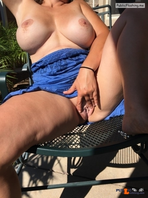 No panties Sitting in front porch Thanks for the submission… pantiesless