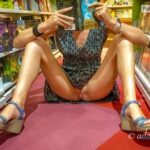 No panties add1ct3d2you: Enjoy me at the book store pantiesless