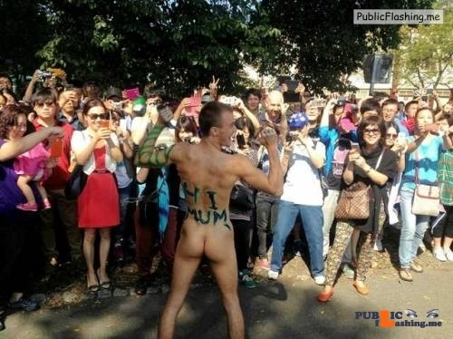 Public Flashing Photo Feed : Public nudity photo lets-start-with-this:The WNBR – Asian tourists seem to love…