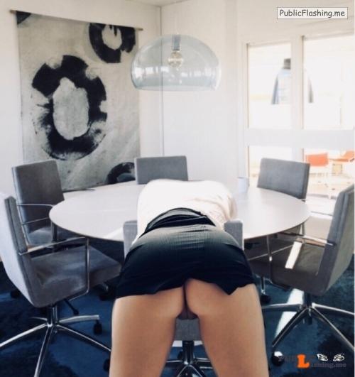 No panties stockholmgirl69: We walk around without panties at work and let… pantiesless