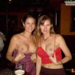 Public exhibitionists girlsflashinginpublic: Flashing boobs at the bar