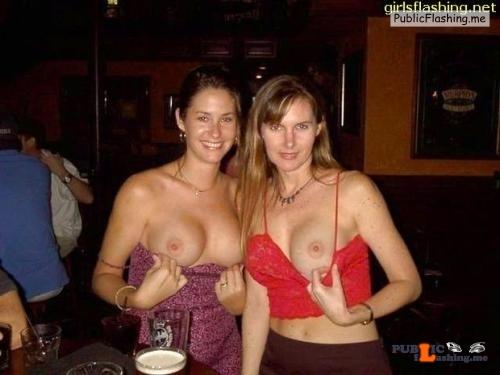 Public exhibitionists girlsflashinginpublic: Flashing boobs at the bar