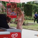 Public nudity photo pizzadare: nakedgirlsdoingstuff: Buying ice cream in the…