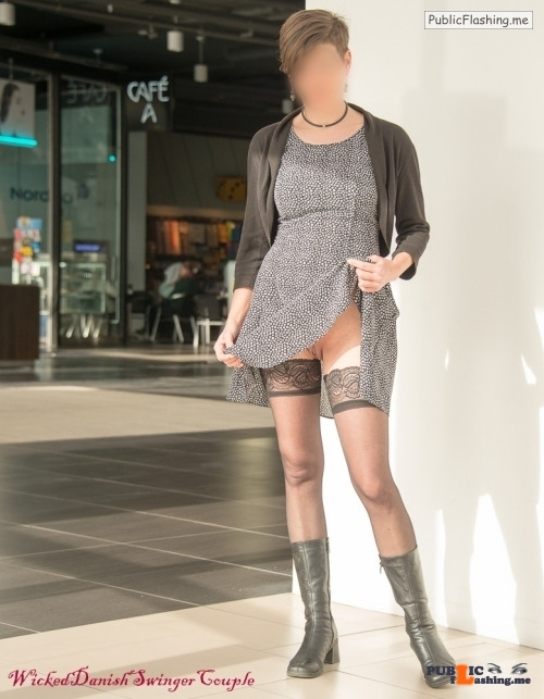 Public Flashing Photo Feed : No panties wickeddanishswingercouple: We went to the mall – and it would… pantiesless