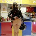 Public flashing photo flashingthepublic:Pantyless ass in restaurant