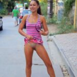 Public flashing photo flashingthepublic:Flashing pantyless in the street!