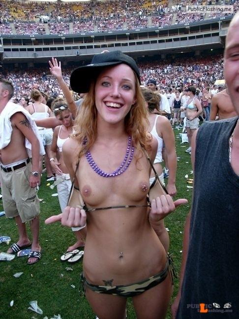 Flashing in public photo Photo