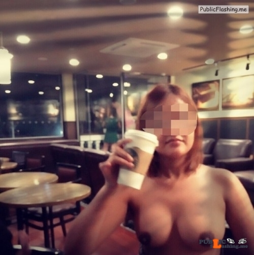 spreadlovemakefriends: Starbucks adventures! flashing in public picture