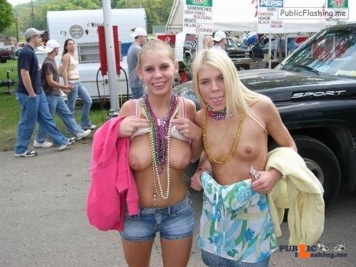 Public flashing photo ronin-soul-leoo:Lovely amateur girls flashing tits in…
