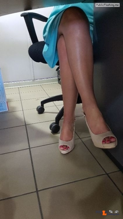 No panties kennandandrea: Naughty and pantyless at the office ?? Wish you… pantiesless