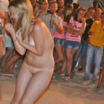 Public nudity photo nakedenfcaptions:Sandy was stripped naked and Humiliated in…