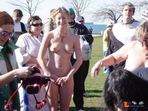 Public nudity photo daican-2:Something to keep her warm on those cold winter…