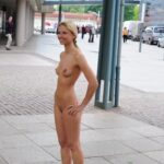 Public nudity photo public-flashing-babes: Saw her standing there…