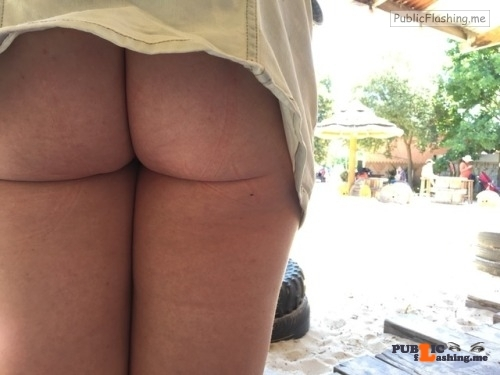 Public Flashing Photo Feed : No panties kinkyfunforsum: Buns out at Werribee zoo pantiesless